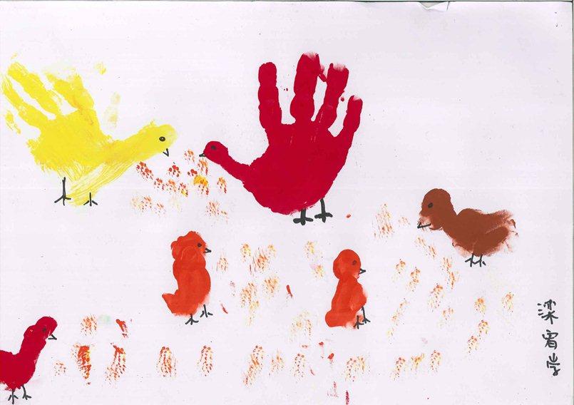 儿童创意拓印画